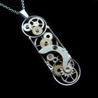 Clockwork Pendant Time Capsule by amechanicalmind on Etsy