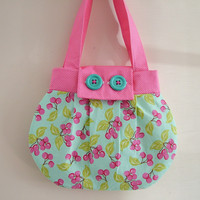 SALE - Kitsch Cherry Pink & Turquoise Summer Shoulder Bag | Luulla