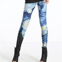 Sexy Galaxy Print Tornado Stretchy Skinny Tight Leggings Pants LB13252 Free Size