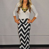 Chevron Tube Dress or Maxi Skirt - Modern Vintage Boutique