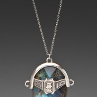 LOW LUV X ERIN WASSON Faceted Labradorite Afghani Toggle Necklace in Silver at Revolve Clothing - Free Shipping!