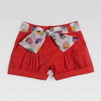 Gucci Shorts with Cupcake Sash, Coral