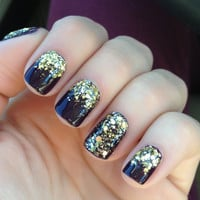 All Gold Everything  Gold Glitter Nail Polish by ILoveNP on Etsy