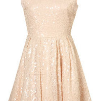 Allover Sequin Prom Dress