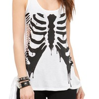 Teenage Runaway Drip Rib Cage Tank Top - 759792