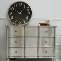 Amberley Silver Leaf Chest of Drawers - Sweetpea & Willow London