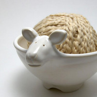 Lamb Shaped Ceramic Yarn Bowl by aspeerstudio on Etsy