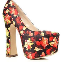 Dolce Vita Vixen  Shoe in Red Floral