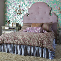 Grande Seurat Micro Suede Headboard - Upholstered Beds and Headboards - Bedroom and Bath - Furniture - PoshLiving
