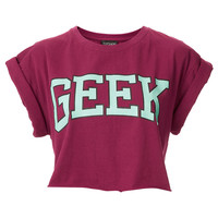 Geek Crop - Jersey Tops - Clothing - Topshop