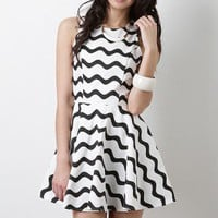 The Alie Black & White Dress