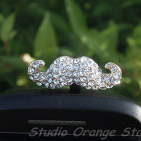 1PC Bling Crystal Luxurious Mustache  Earphone by StudioOrangeStar