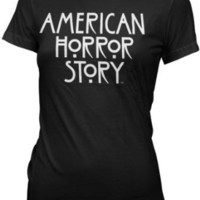 American Horror Story - Womens Stacked Type Logo T-shirt in Black