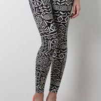 Abstract Gift Leggings