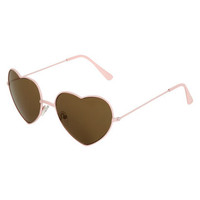 Heart Shaped Aviator Sunglasses | Shop Valentine 2013 at Wet Seal