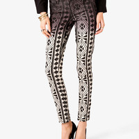 Tribal-Inspired Skinny Jeans