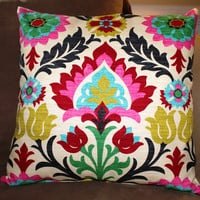Custom 20 inch Pillow - Waverly Desert Flower