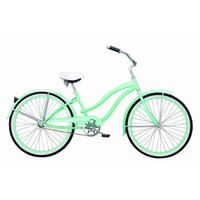 Amazon.com: Ladies Beach Cruiser Bicycle - 26&quot; Rover GX - Mint: Sports &amp; Outdoors