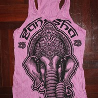 Women's T shirt Hamsa Hand Yoga Clothing Buddha Ganesha T-shirt Boho tank top Om