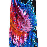 Roberto Cavalli | Paillette-embellished silk-georgette dress | NET-A-PORTER.COM