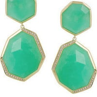 Ippolita | Modern Rock Candy 18-karat gold, chrysoprase and diamond earrings | NET-A-PORTER.COM