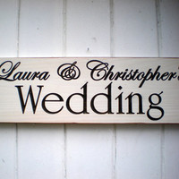 Custom Name Wedding Sign