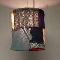 EcoVolveNow Tattered Chic Sweater Pendant Lamp