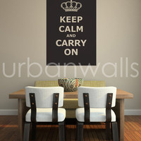 Vinyl Wall Sticker Decal Art - Keep Calm Carry On