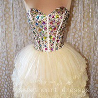 Mini Strapless Short Prom Dress