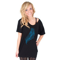 Peacock Feather American Apparel Tunic by rainbowswirlz on Etsy