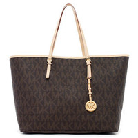MICHAEL Michael Kors  Jet Set Logo Medium Travel Tote - Michael Kors