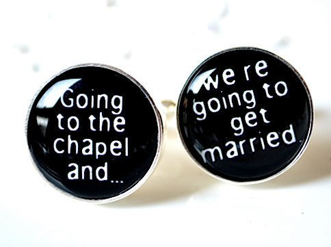 $40.00 Going to the chapel cufflinks  getting married  by whitetruffle
