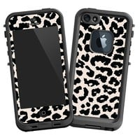 Black and White Leopard Skin for iPhone 5 Lifeproof Case