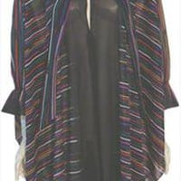 Vintage 1980s Sheer Poly Cape