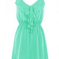 The 2013 Ruffle Jade Dress - 29 and Under
