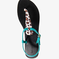 Leopard Print Thong Sandals | FOREVER 21 - 2034431240