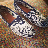 Toms. Hand- Decorated.
