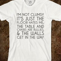 Clumsy-Unisex White T-Shirt