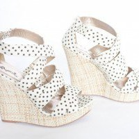 Polka Dot Wedges - Vamped Boutique
