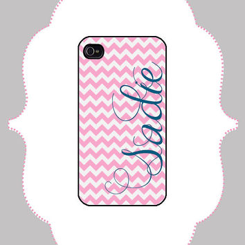 iPhone Case- Chevron Name- iPhone 4 Case, iPhone 4s Case, iPhone 5 Case, Monogram Case, Personalized iPhone Case