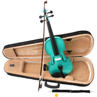 NEW 4/4 Green MAPLEWOOD SPRUCE VIOLIN FIDDLE wCASE BOW