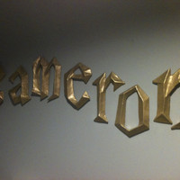 Harry Potter 3D Wall Letters by PaperMacheSculptures on Etsy