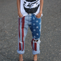 MADE TO ORDER American Flag boyfriend jeans by yourafever on Etsy