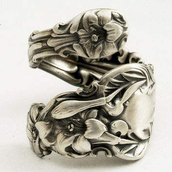 Art Nouveau Whiting Lily Sterling Silver Spoon Ring by Spoonier