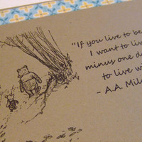 Live To Be A Hundred Winnie the Pooh Quote by prettypetalspaper