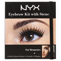 NYX Cosmetics - EYEBROW KIT WITH STENCIL