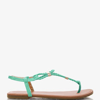 Strappy Faux Leather Thong Sandals | FOREVER 21 - 2035403881
