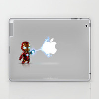 Ironman...damn apple! it&#x27;s too hard to destroy!!!! Laptop &amp; iPad Skin by Emiliano Morciano (Ateyo) | Society6