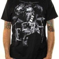 ROCKWORLDEAST - Star Wars, T-Shirt, Chewy Drums