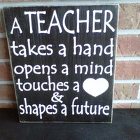 Teacher wooden sign by dressingroom5 on Etsy